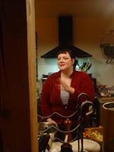 alix wearing stove hat