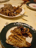 trout with wild mushrooms